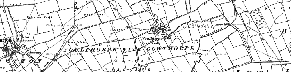 Old map of Youlthorpe in 1890