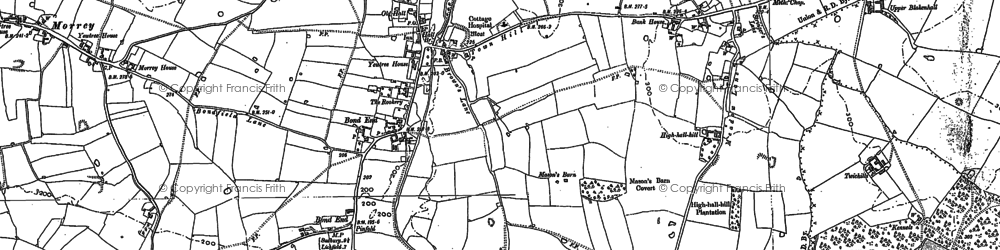 Old map of Yoxall Br in 1882