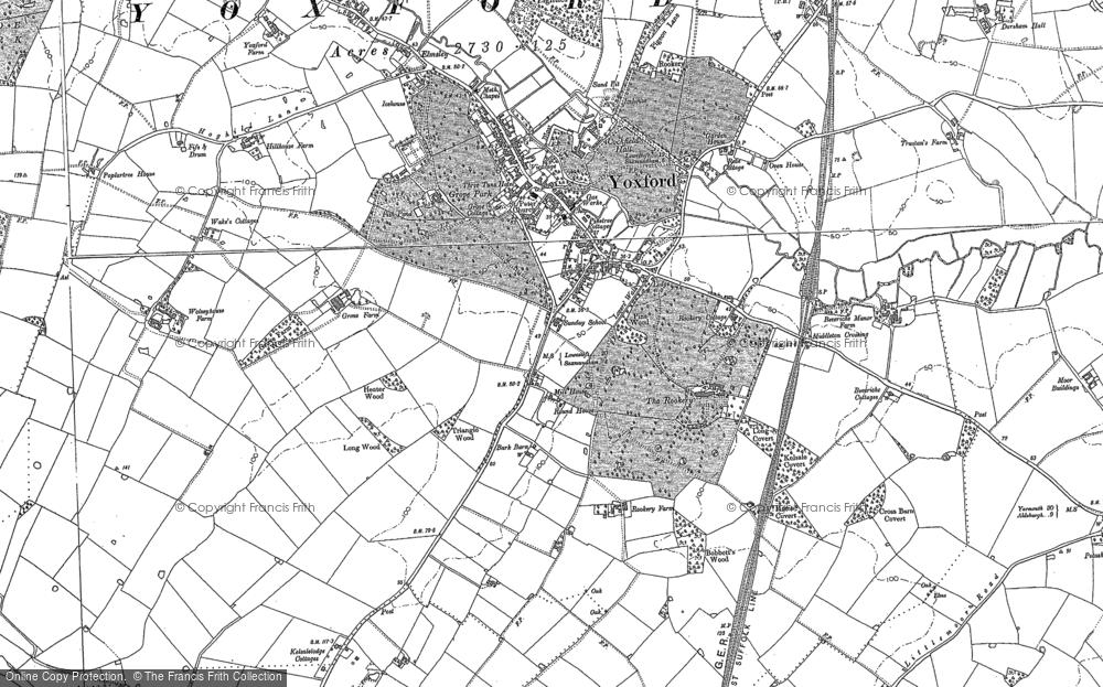 Map of Yoxford, 1883