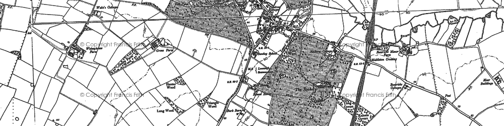 Old map of Yoxford in 1883