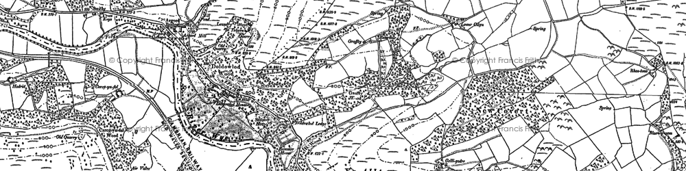 Old map of Ystrad in 1902