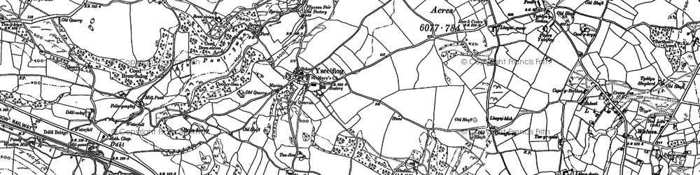 Old map of Ysceifiog in 1898