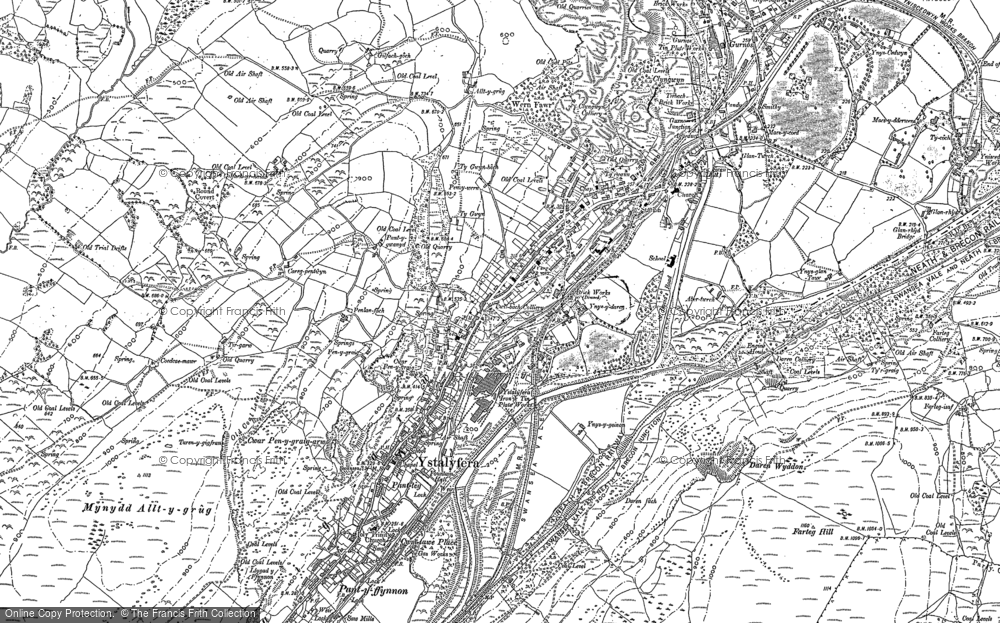 Map of Ystalyfera, 1897 - 1903