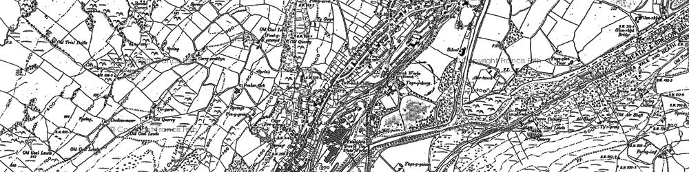 Old map of Ystalyfera in 1897