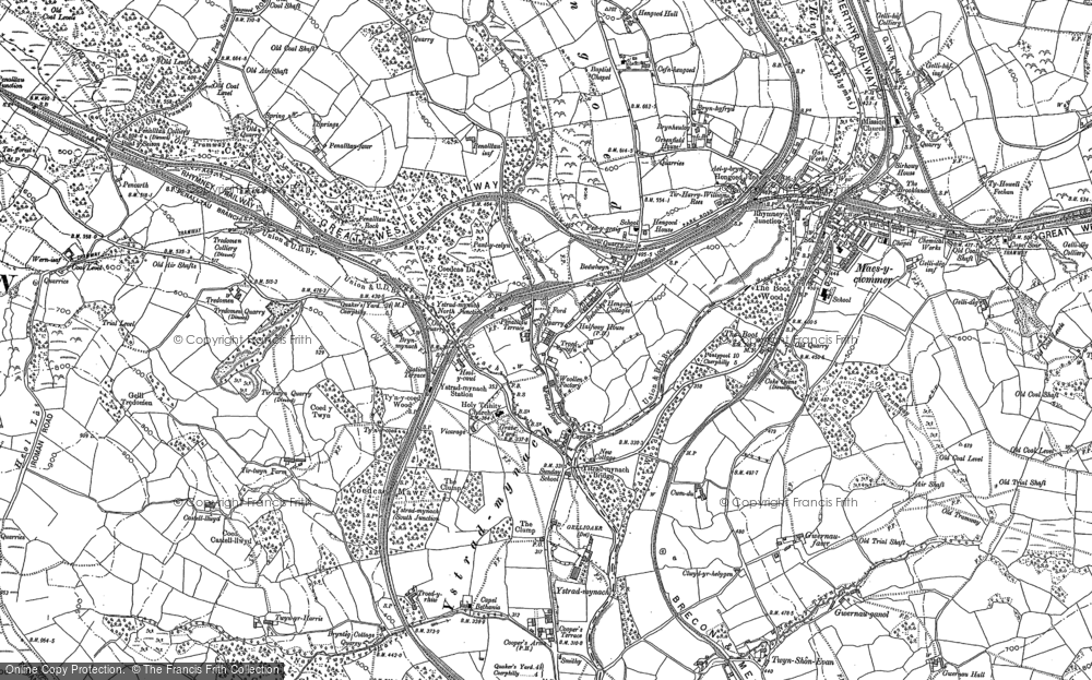 Map of Ystrad Mynach, 1898 - 1916