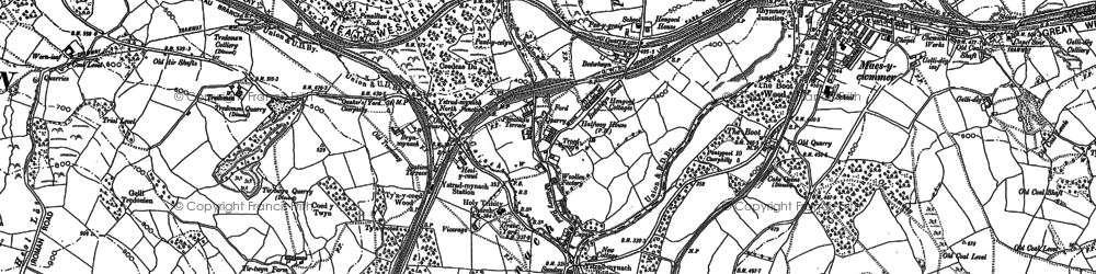 Old map of Ystrad Mynach in 1898