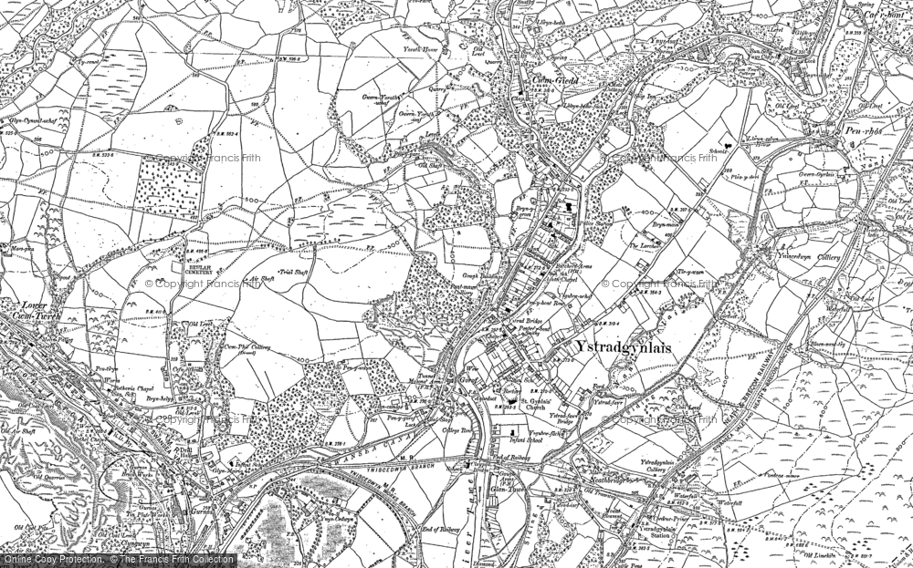 Old Map of Ystradgynlais, 1903 in 1903