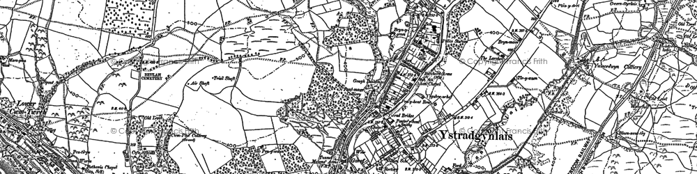 Old map of Ystradgynlais in 1903
