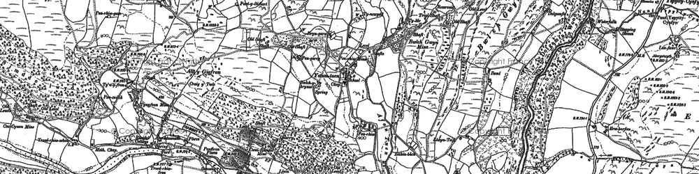 Old map of Allt-y-Gigfran in 1886