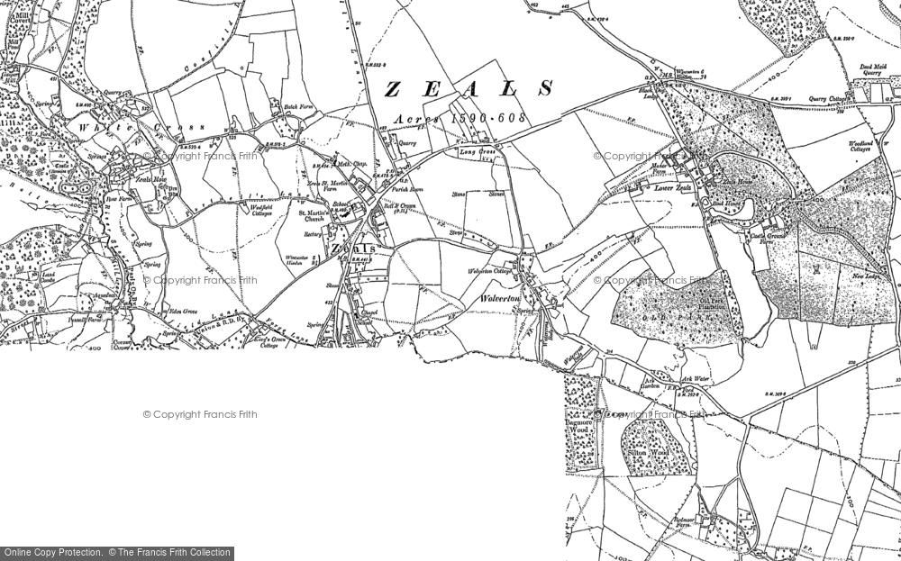 Old Map of Zeals, 1900 - 1923 in 1900
