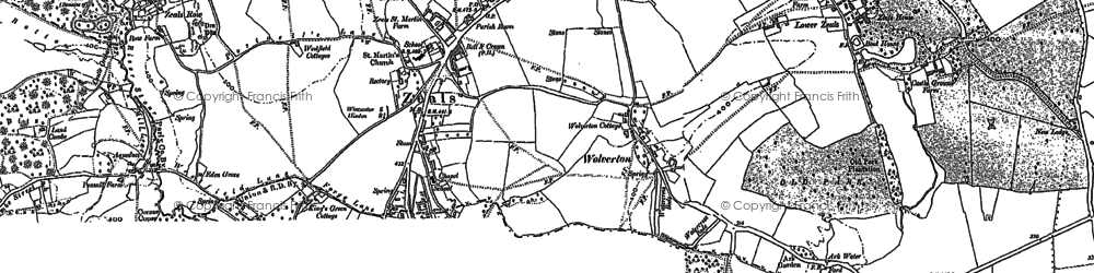 Old map of Zeals in 1900
