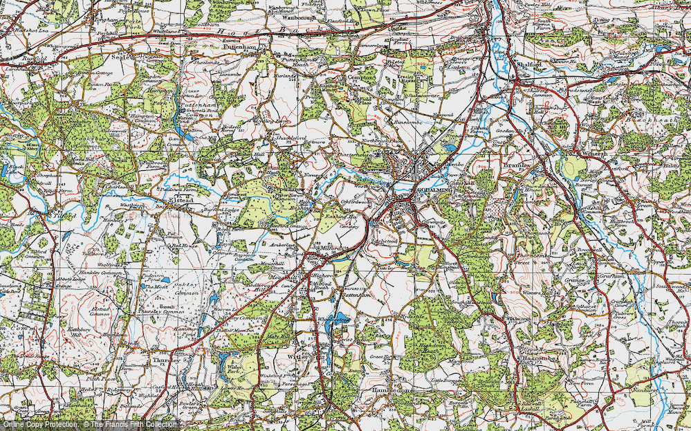Old Map of Aaron's Hill, 1920 in 1920