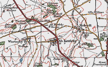 Old map of Ab Kettleby in 1921
