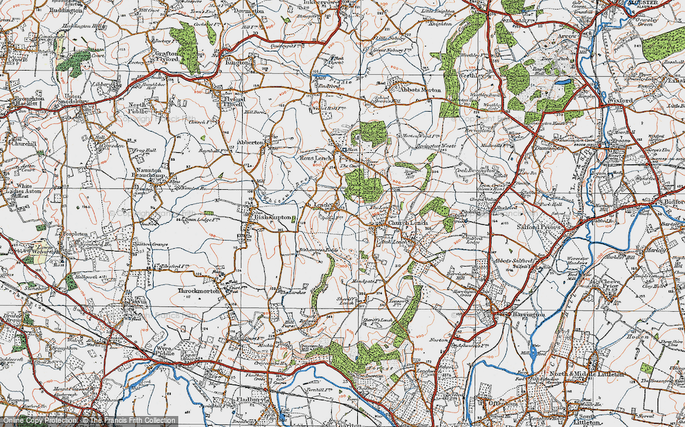 Old Map of Ab Lench, 1919 in 1919