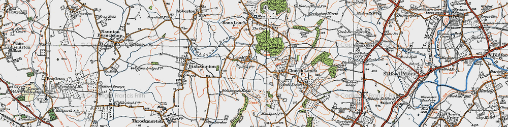Old map of Ab Lench in 1919