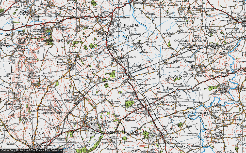 Old Map of Abbas Combe, 1919 in 1919