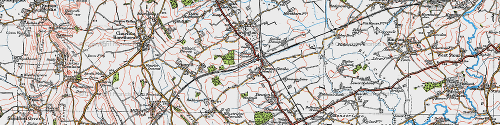 Old map of Abbas Combe in 1919