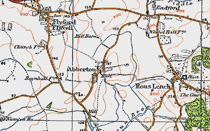 Old map of Abberton in 1919