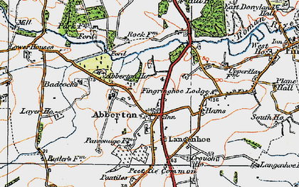 Old map of Abberton in 1921