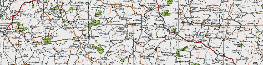 Old map of Abbess End in 1919