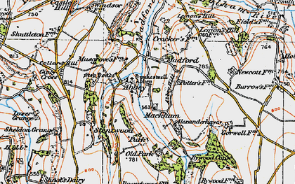 Old map of Abbey in 1919