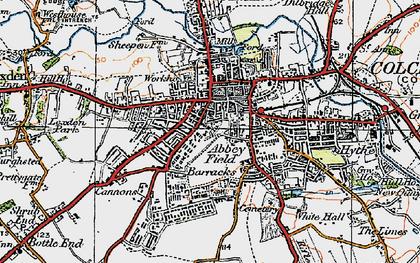 Old map of Abbey Field in 1921