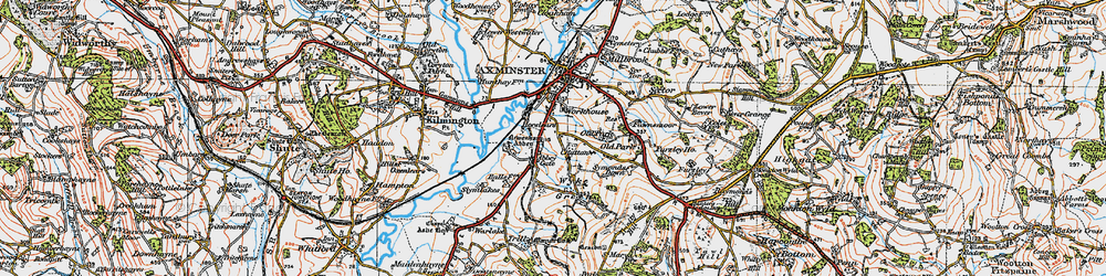 Old map of Abbey Gate in 1919