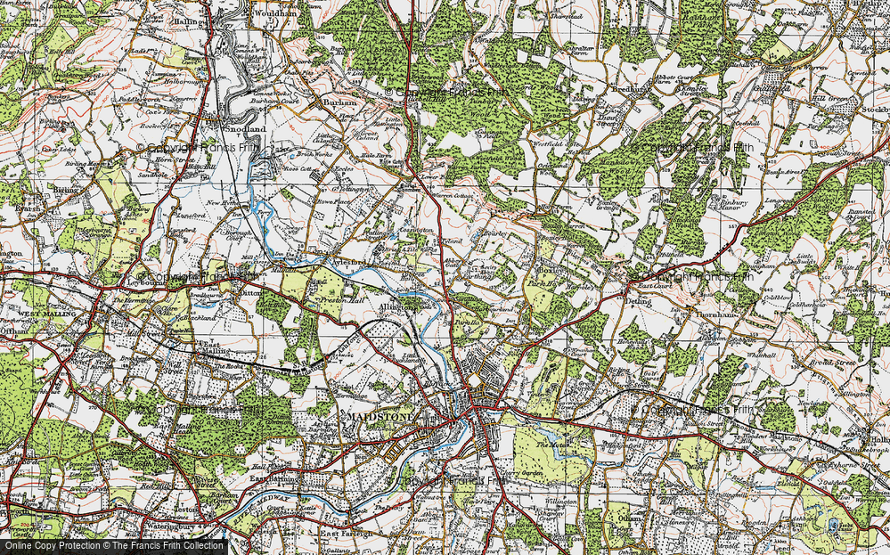 Old Map of Abbey Gate, 1921 in 1921