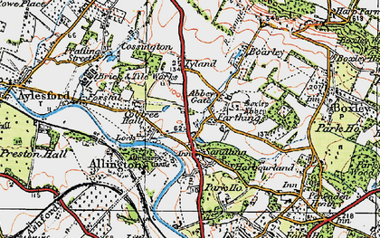 Old map of Abbey Gate in 1921