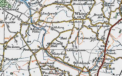 Old map of Abbey Green in 1921