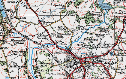 Old map of Abbey Green in 1923