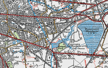 Old map of Abbey Hey in 1924