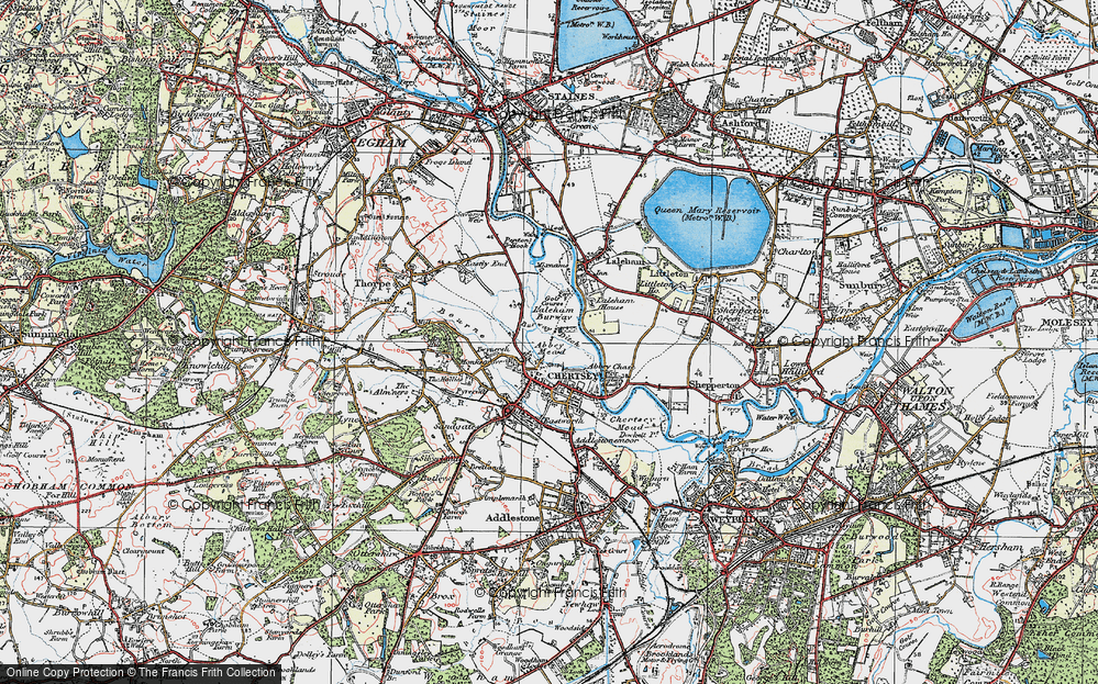 Old Map of Abbey Mead, 1920 in 1920