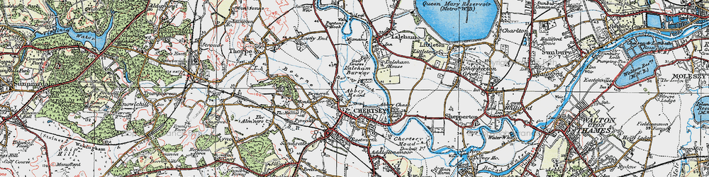 Old map of Abbey Mead in 1920