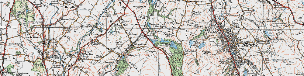 Old map of Abbey Village in 1924