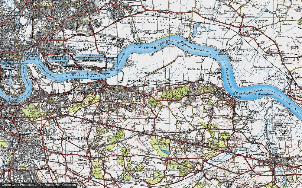 Old Map of Abbey Wood, 1920 in 1920