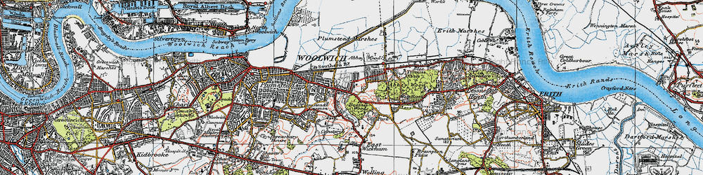 Old map of Abbey Wood in 1920