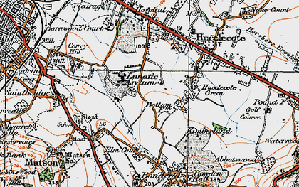 Old map of Abbeydale in 1919