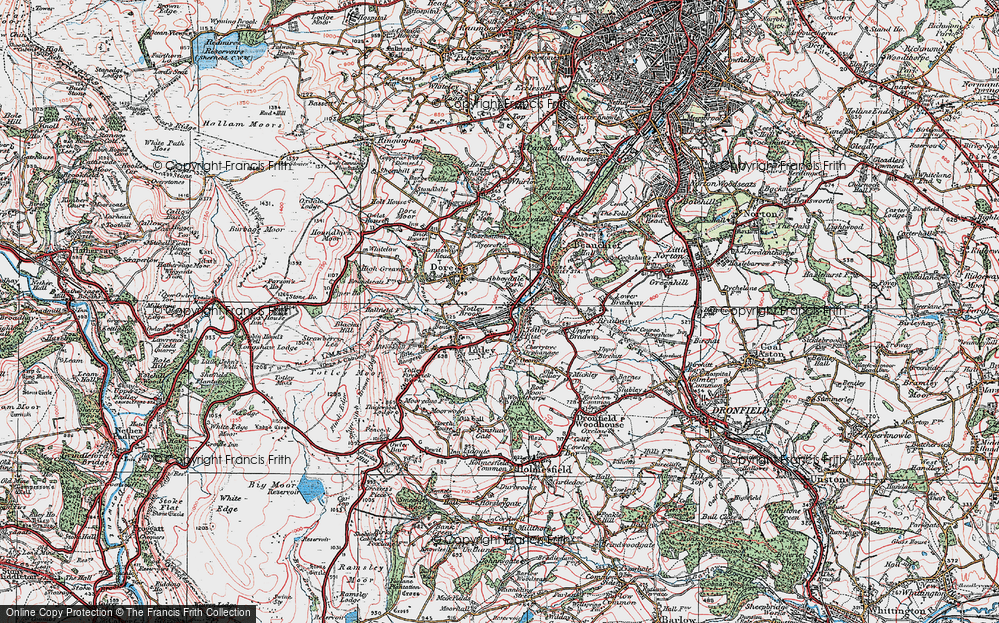 Old Map of Abbeydale Park, 1923 in 1923