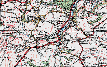 Old map of Abbeydale Park in 1923