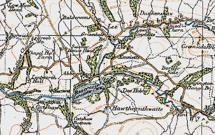 Old map of Abbeystead in 1924
