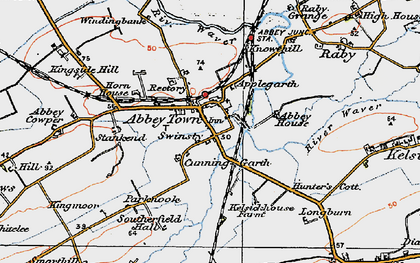 Old map of Abbeytown in 1925