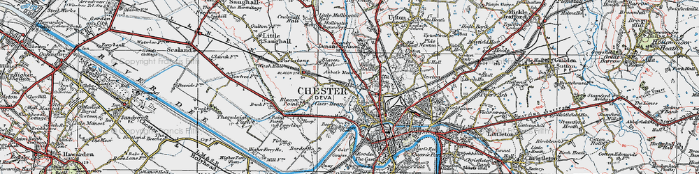 Old map of Abbot's Meads in 1924