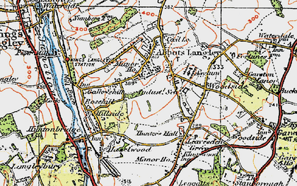 Old map of Abbots Langley in 1920