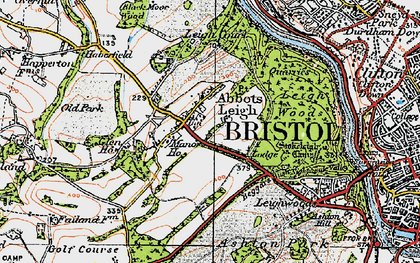 Old map of Abbots Leigh in 1919