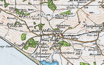 Old map of Ashley Chase Ho in 1919