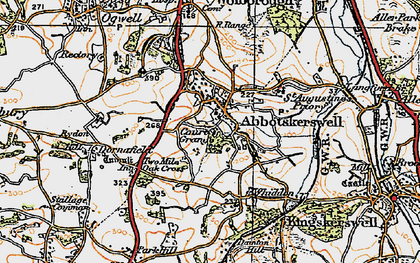 Old map of Abbotskerswell in 1919