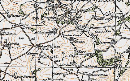 Old map of Abbotsleigh in 1919