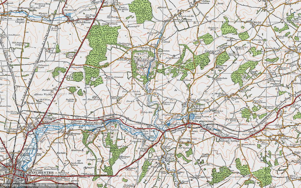 Old Map of Abbotstone, 1919 in 1919