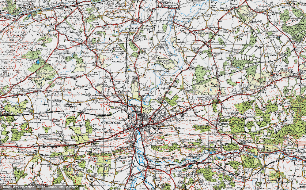 Old Map of Abbotswood, 1920 in 1920